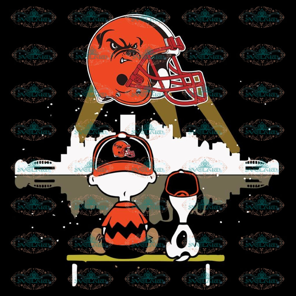 Cleveland Browns Svg, Snoopy And Peanut Svg, Cricut File, Clipart, NFL Svg, Football Svg, Sport Svg, Love Football Svg, Png, Eps, Dxf