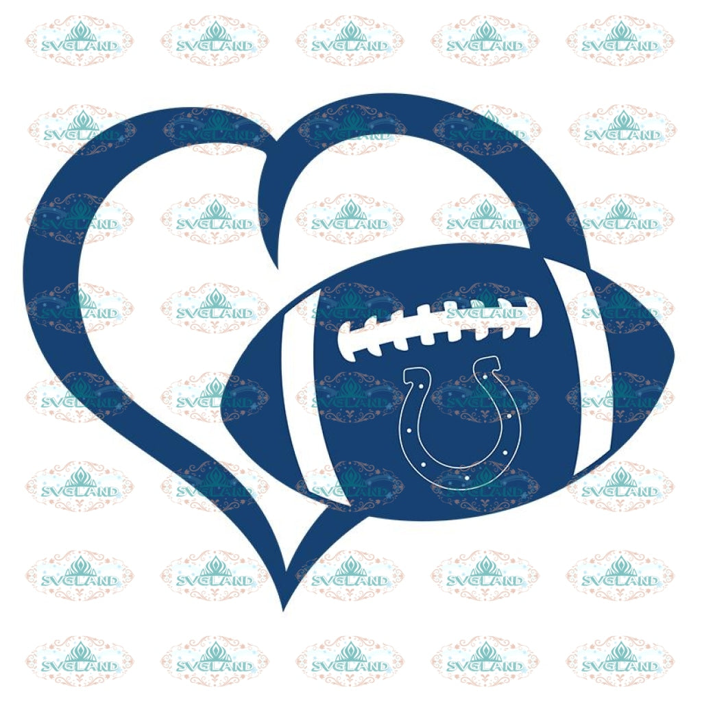 Colts Love Svg, NFL Svg, Cricut File, Clipart, Indianapolis Colts Svg, Football Svg, Sport Svg, Love Football Svg, Png, Eps, Dxf