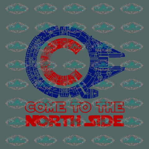 Come To The North Side Chicago Star Ship Wars Willennium Falcon Cubs Svg Digital