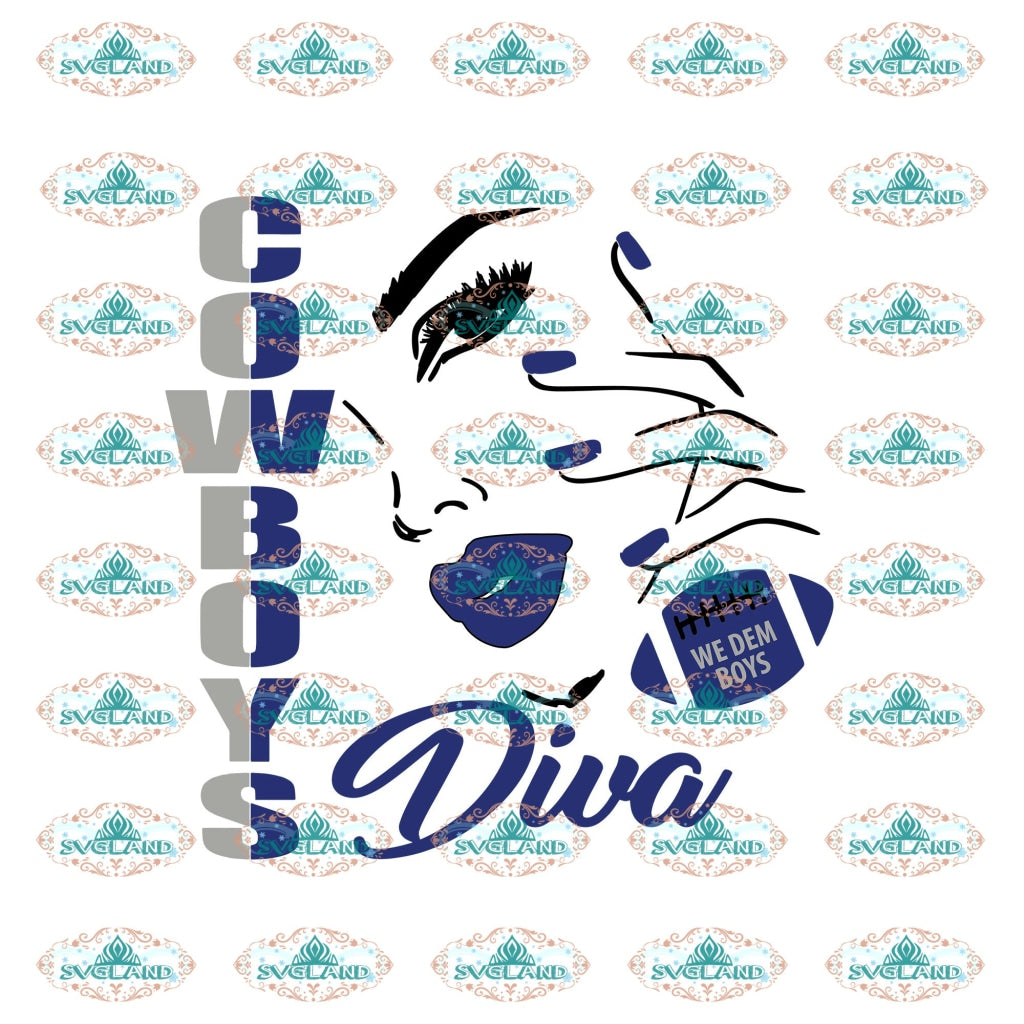Cowboys Diva Dallas Cowboys Dallas Football Cowboy College Svg Shirt Digital