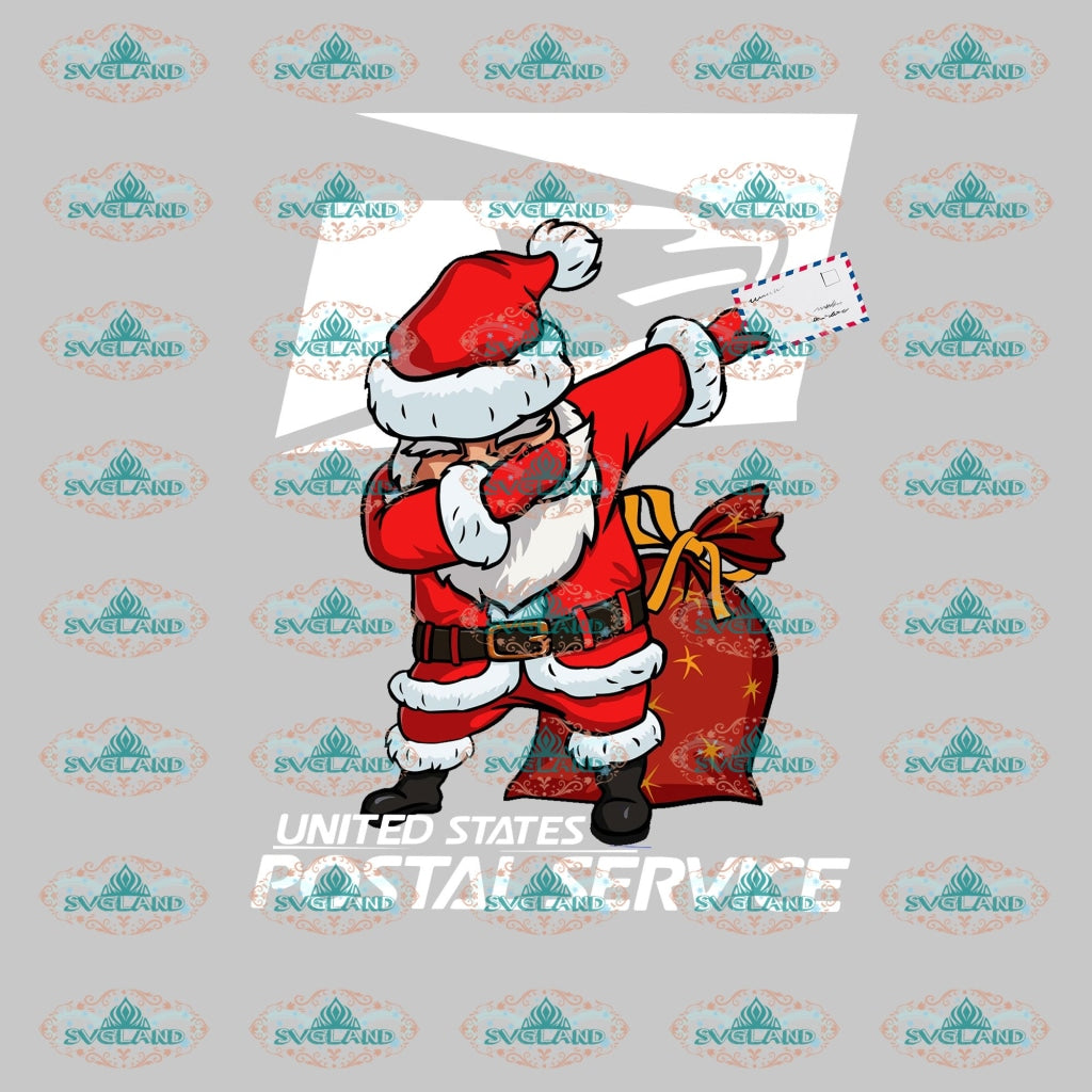 Dabbing Santa Claus Winter Christmas Decor Outfit Svg Digital