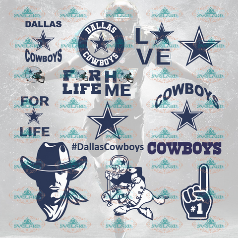 Dallas Cowboys Dallas Svg Football Cowboy Shirt Bundle File Nfl Ncaa Digital