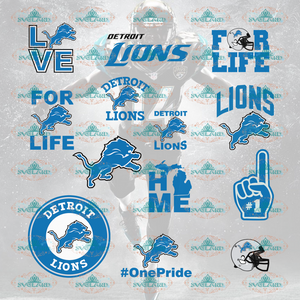 Detroit Lions Detroit Lions Nfl Gift Svg Baby Bundle File Nfl Ncaa Digital