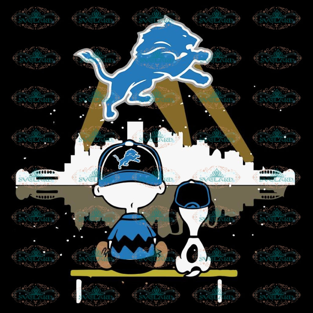 Detroit Lions Svg, Snoopy And Peanut Svg, Cricut File, Clipart, NFL Svg, Football Svg, Sport Svg, Love Football Svg, Png, Eps, Dxf