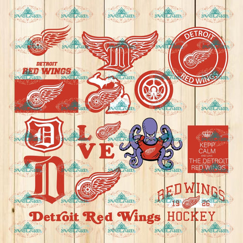 Detroit Red Wings Logo Bundle File Silhouette Sports Hockey Svg Cut File Cricut Nhl Digital