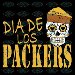 Dia De Los Packers Svg, Green Bay Parkers Svg, NFL Svg, Cricut File, Clipart, Sport Svg, Football Svg, Love Sport Svg