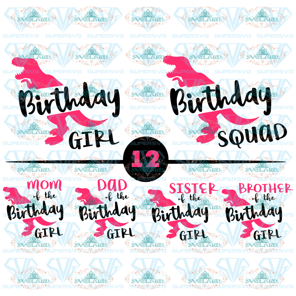 Dinosaur Birthday Girl Svg T Rex Dino Shirt Family Shirts Dinosaur Digital