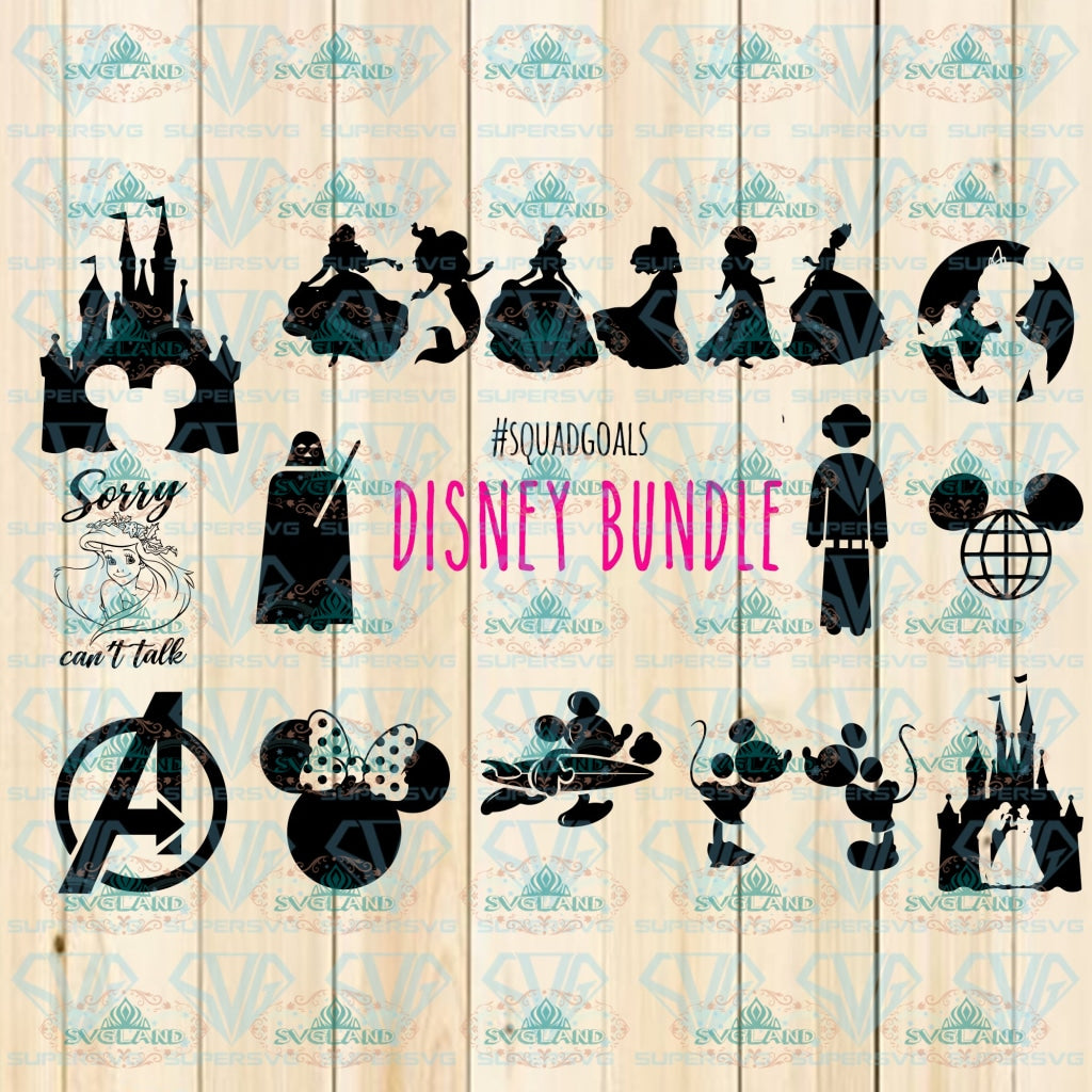 Disney Svg Bundle Disney Ariel Princess Svg Mickey Font Star Wars Png Digital