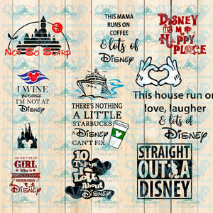 Disney Svg Bundle Disney Vaction Shirt My Favorite Villain Cruise Bundle File Svg Digital