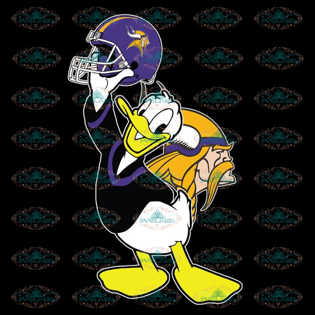 Donald Duck Svg, Cricut File, Duck Vikings Svg, NFL Svg, Football Svg, Cricut File, Sport Svg, Football Svg, Png, Eps, Dxf