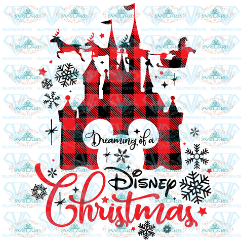 Dreaming Of Disney Christmas Mickey Mouse Head Christmas Svg Svg Digital