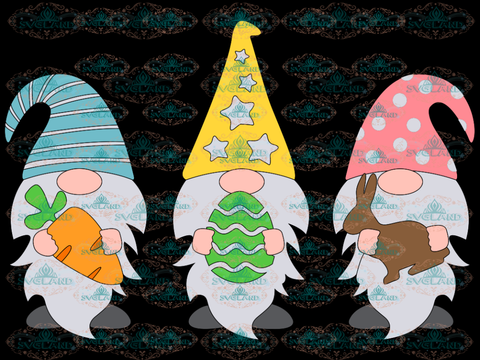 Easter Gnomes Svg Gnome Dxf Png Clipart Shirt Design Cute Three Digital