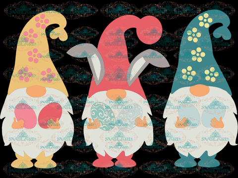 Easter Svg Bunny Clipart Gnomes Svg Files For Cricut Spring Digital