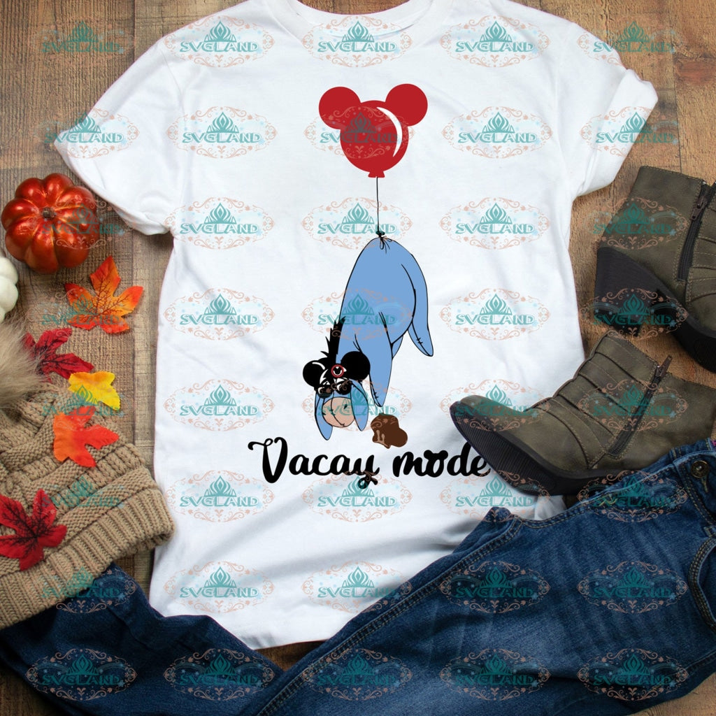 Eeyore Svg Vacay Mode Disney Princess Svg Disneyland Digital