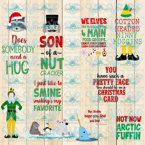 Elf Movie Quotes Image Bundle Download Svg Png Dxf Eps Ai Files Buddy Mr Narwhal Hat Legs Create