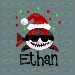 Ethan Santa Hat Winter Christmas Decor Gift Merry Outfit Ornament Png Digital