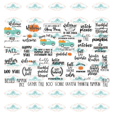 Fall Svg, Bundle, Fall Svg, Autumn Svg, Thanksgiving Svg, Cricut, Silhouette, Quotes Svg