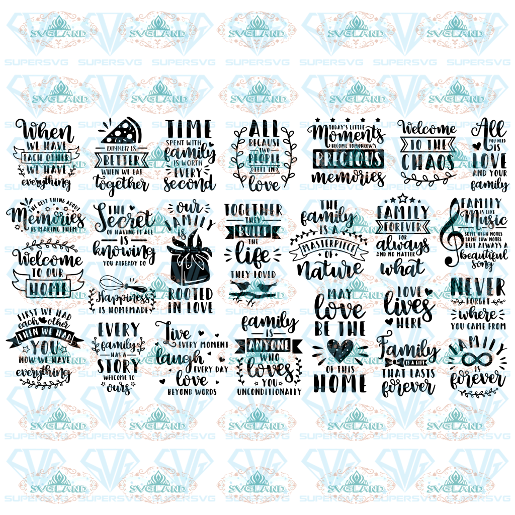 Family Quotes Svg Bundle Mom Home Sign Rustic This Is Us Family Tree Reunion Definition Digital