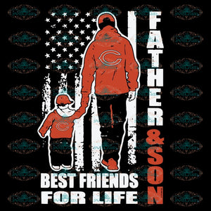 Father And Son Best Friends For Life Bears Svg, NFL Svg, Cricut File, Clipart, Chicago Bears Svg, Football Svg, Sport Svg, Love Football Svg, Png, Eps, Dxf