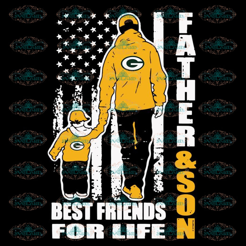 Father And Son Best Friends For Life Packers Svg, NFL Svg, Cricut File, Clipart, Green Bay Packers Svg, Football Svg, Sport Svg, Love Football Svg, Png, Eps, Dxf