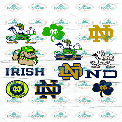 Fighting Irish Bundle File Team Football Shirt College American Nfl Ncaa Digital