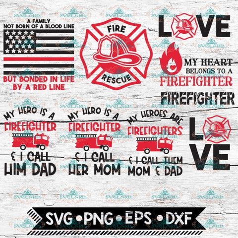 Firefighter SVG, Bundle, files for cricut, Svg, Family Svg