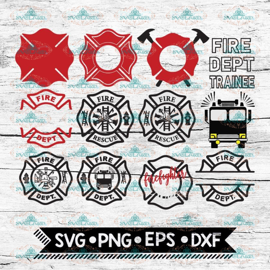 Firefighter SVG, Bundle, files for cricut, Svg, Fire Dept Trainee