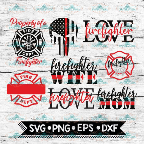 Firefighter SVG, Bundle, files for cricut, Svg, Love Svg