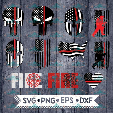 Firefighter SVG, Bundle, files for cricut, Svg, Skull Svg