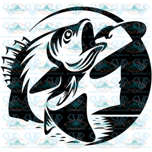 Fishing Svg Bass Fish Sea Cut File For Cricut Free Bass Fish Svg Clipart Fisherman Svg Digital