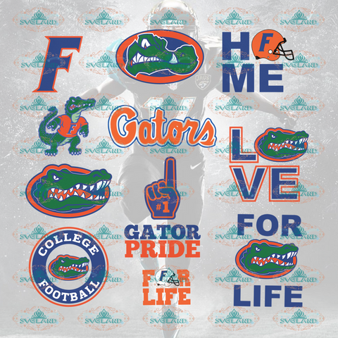 Florida Gators Football Logo Team Bundle File Nfl Ncaa Digital