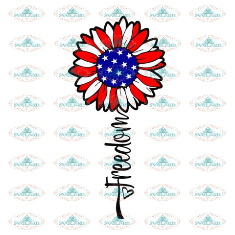 Freedom sunflower svg, july 4th svg, freedom svg, sunflower flag usa svg, stars and stripes svg, merica svg, cricut, cut file, svg, independence day, patriotic, america