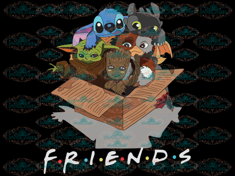 Friends Svg Stitch Svg Baby Groot Yoda Disney Digital