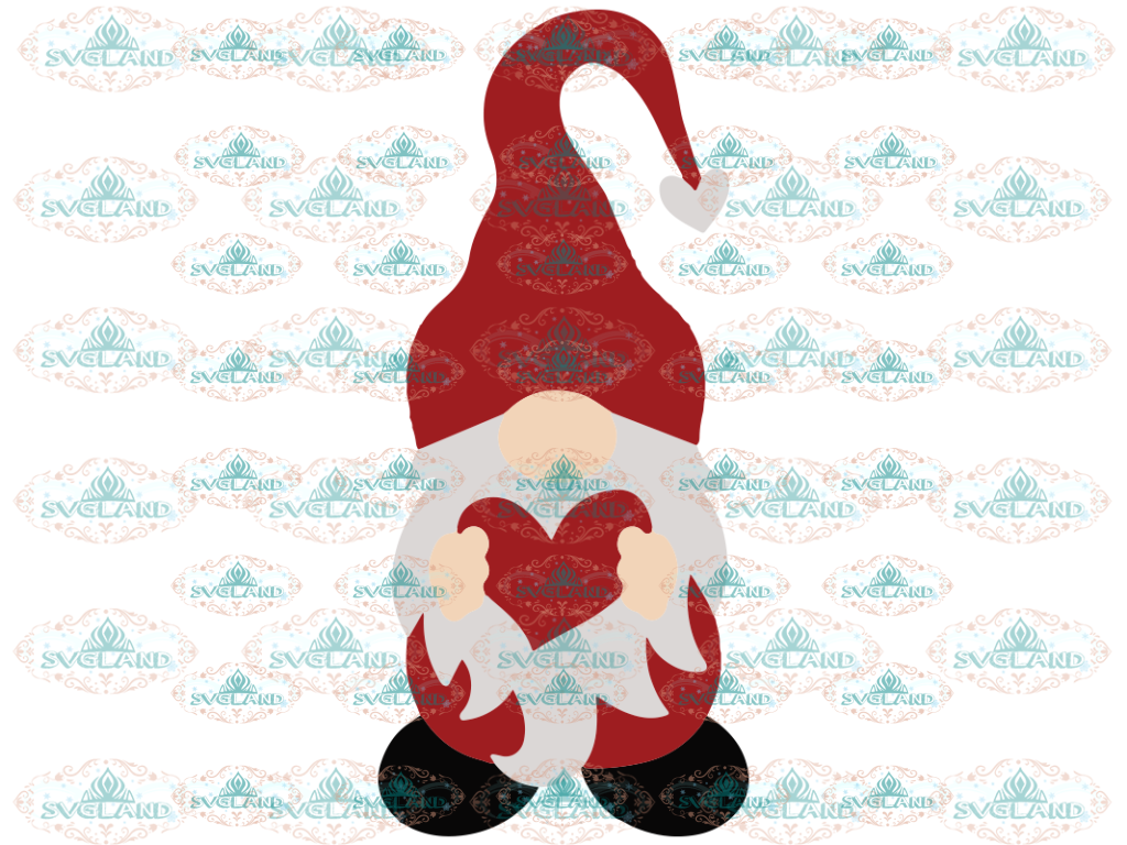 Gnome Svg Valentine For Cricut Silhouette With Heart Svg File Shirt Funny Love Digital