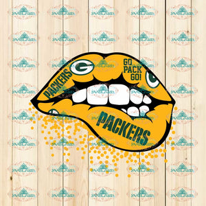 Green Bay Packers Inspired Lips Svg Dxf Png Cricut Silhouette Cut File Instant Download Svg Digital