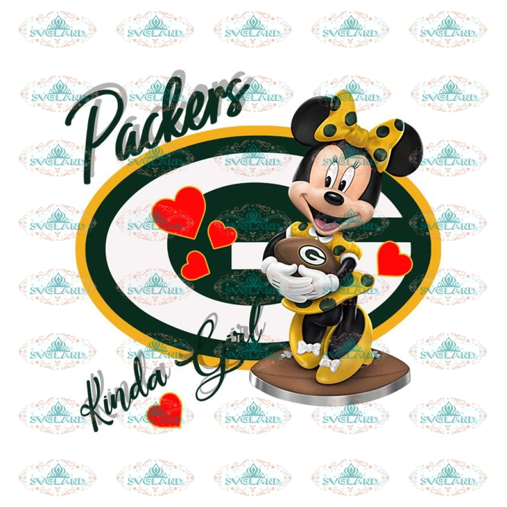 Green Bay Packers Png, Printable PNG 300 DPI, NFL Png, Sport, Png, Football Png, Packers Minnie Png, Minnie Mouse Png