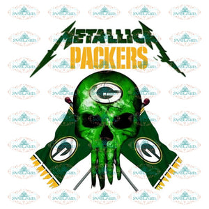 Green Bay Packers Png, Printable PNG 300 DPI, NFL Png, Sport, Png, Football Png, Packers Skull Png, Metallica Packers Png