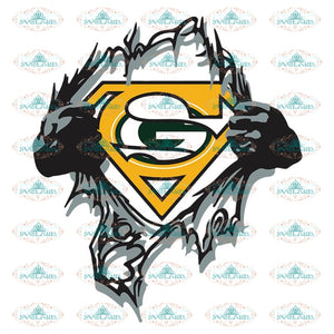 Green Bay Packers Superman Svg, Packers Logo Svg, Cricut File, Clipart, NFL Svg, Sport Svg, Love Football Svg, Png, Eps, Dxf