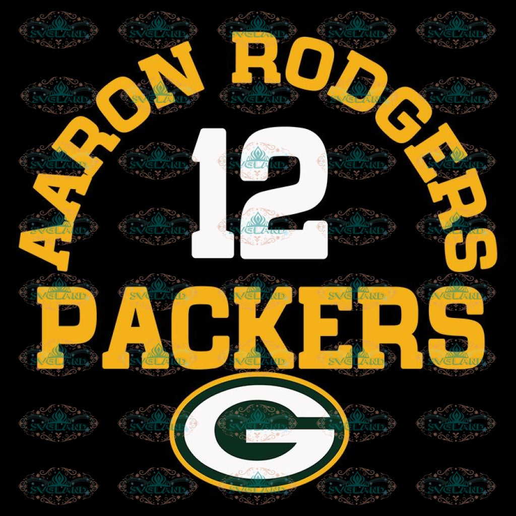Green Bay Packers Svg, Aaron Rodgers Packers Svg, Cricut File, Clipart, NFL Svg, Football Svg, Sport Svg, Number 12 Svg