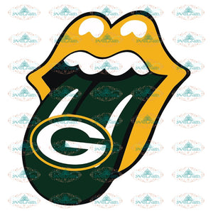 Green Bay Packers Svg, Cricut File, Clipart, Football Svg, Lips Svg, Sport Svg, Love Football Svg