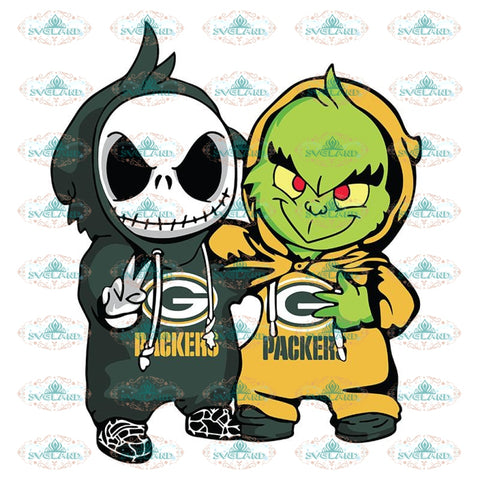Green Bay Packers Svg, Grinch And Jack Packers Svg, Minecraft Svg, Cricut File, Clipart, Football Svg, Sport Svg, NFL Svg, Sport Svg