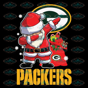 Green Bay Packers Svg, Santa Dabbing Svg, Cricut File, Clipart, NFL Svg, Football Svg, Sport Svg, Love Football Svg, Png, Eps, Dxf