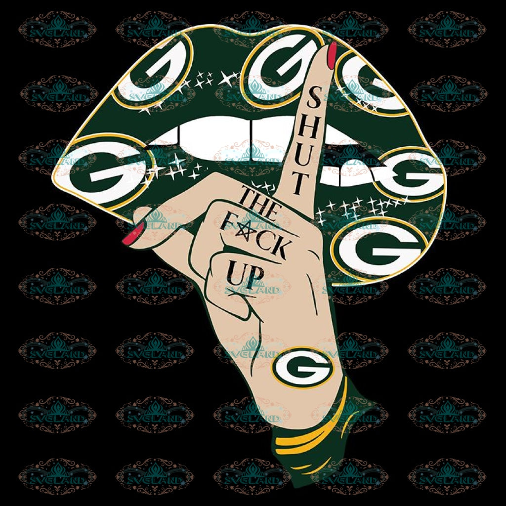 Green Bay Packers Svg, Shut The Fuck Up Packers Logo Svg, Cricut Silhouette, Clipart, NFL Svg, Football Svg, Sport Svg