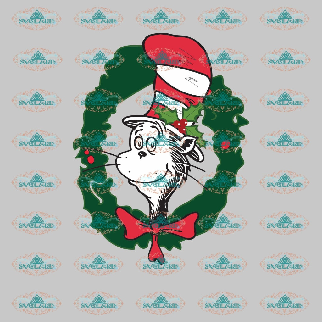Grinch Dr Seuss Birthday Christmas Decor Merry Ornament Svg Digital