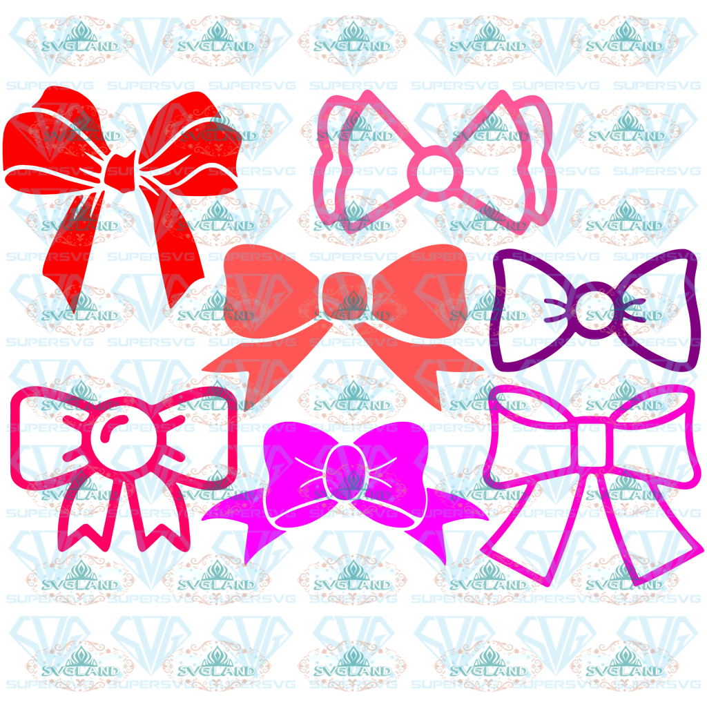 Hairbow Svg Bundle Bow Bundle Cut File Clipart Svg Files For Silhouette Cricut Digital