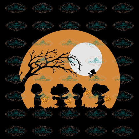 Halloween Snoopy Charlie Brown Woodstock, Cricut File, Svg, Halloween Svg, Snoopy Svg