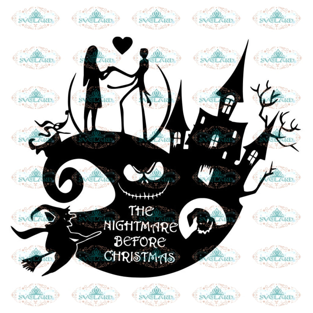 Halloween Svg, Jack Skellington Svg, Cricut File, Clipart, Nightmare Before Christmas Svg, Silhohuette, Jack Skull Svg