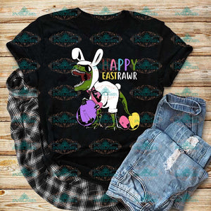 Happy Eastrawr T-Rex Svg Dinosaur Easter Bunny Digital