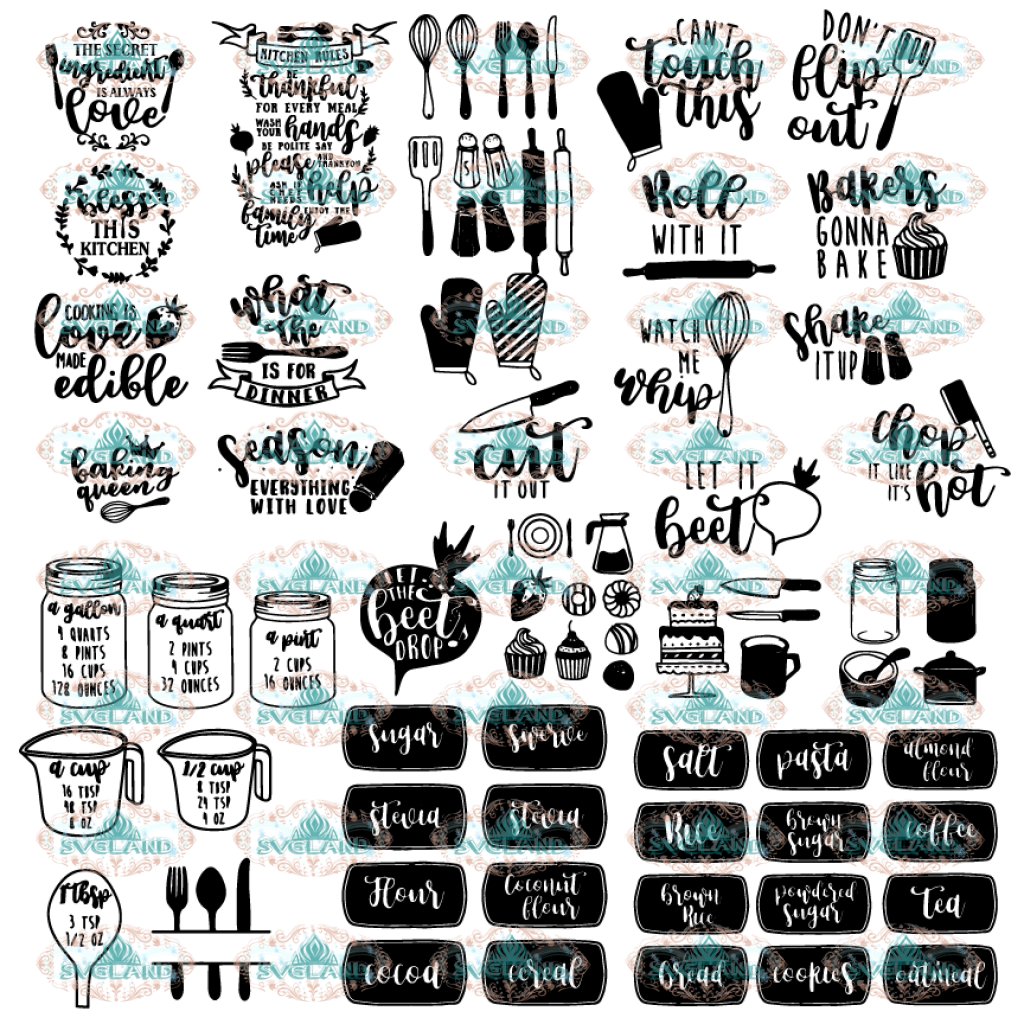 Happy Kitchen Svg Bundle File Svg Svg Digital