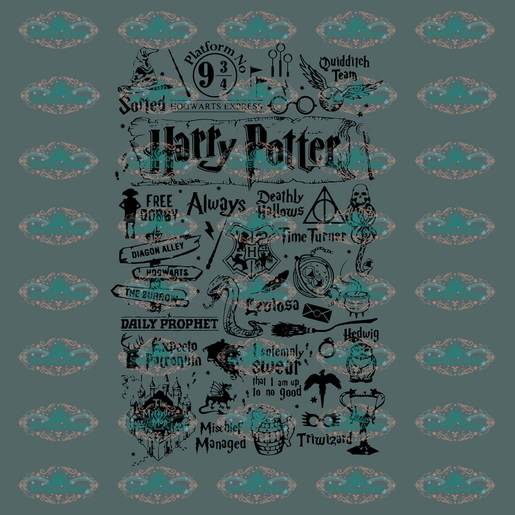 Harry Potter Hogwarts School 100 Days Of Student Shirt Svg Digital